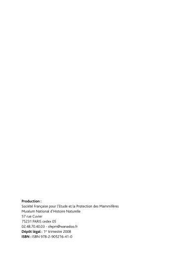 Parties 1 et 2 - Société Française pour l'Etude et la Protection des ...