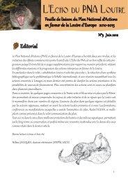 L'Echo du PNA Loutre n°3 - Société Française pour l'Etude et la ...
