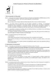 Statuts - Société Française pour l'Etude et la Protection des ...