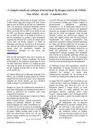Compte-rendu du colloque international du Groupe Loutre de l'UICN