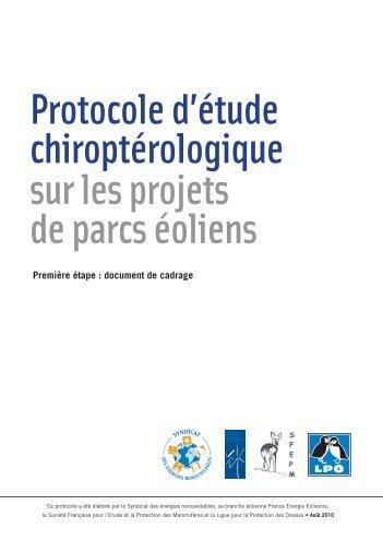 Protocole d'étude chiroptérologique sur les projets de parcs éoliens