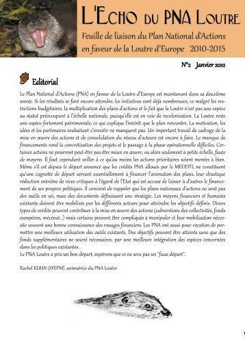 L'Echo du PNA Loutre 2 - Société Française pour l'Etude et la ...