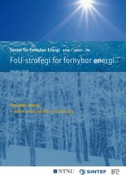 FoU-strategi for fornybar energi - SFFE