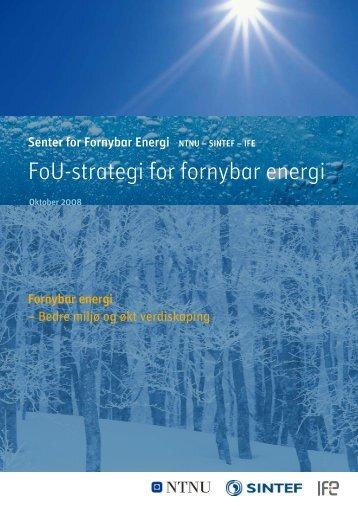 FoU-strategi for fornybar energi - SFFE