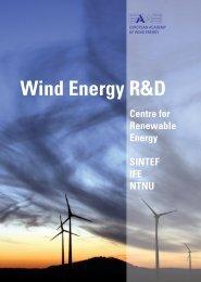 Wind Energy R&D - Sintef