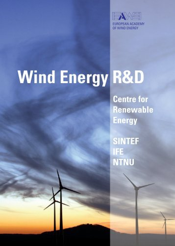 Wind Energy R&D - Sintef