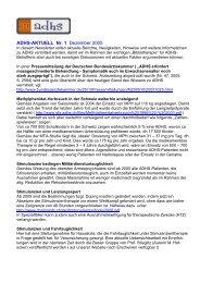 ADHS-AKTUELL Nr. 1 Dezember 2005
