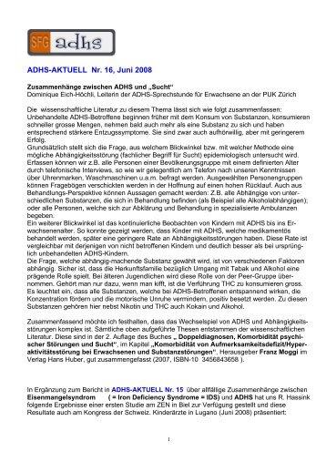 ADHS-AKTUELL Nr. 16, Juni 2008 - Schweizerische ...