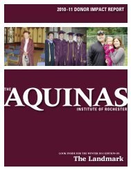 Donors by Class Year and Giving Level - The Aquinas Institute
