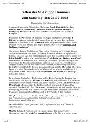 Protokoll von Uwe Gehrke - SFGH