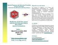 Sols et sites pollués - SFGP