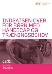 Indsatsen over for børn med handicap og træningsbehov - SFI