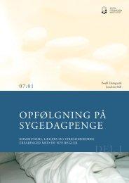 Kommuners, lægers og virksomheders erfaringer med de nye ... - SFI
