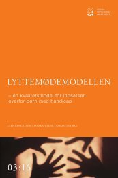 LYTTEMØDEMODELLEN - SFI