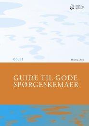 Guide til gode spørgeskemaer - SFI