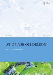 At oplyse om demens - Idéer og inspiration - SFI