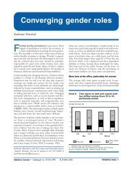 Converging gender roles Katherine Marshall