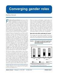 Converging gender roles Katherine Marshall
