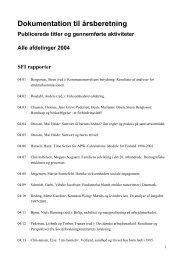Læs Produktionsopgørelse 2004 - SFI