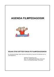 AGENDA FILMPEDAGOGIK - Swedish Film Institute