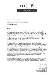 Mål och medel - särskilda åtgärder för vissa måltyper i domstol - SFIR