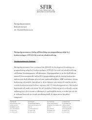 Näringsdepartementets förslag till förordning om ... - SFIR