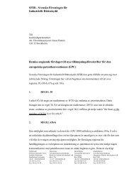 Remiss angående förslaget till nya tillämpningsföreskrifter för ... - SFIR