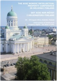 the xxxi nordic intellectual property conference in helsinki ... - SFIR