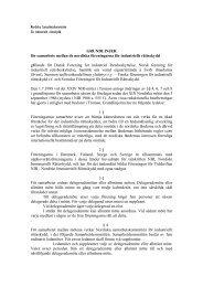 Grundlinjer för samarbete mellan de nordiska föreningarna ... - SFIR