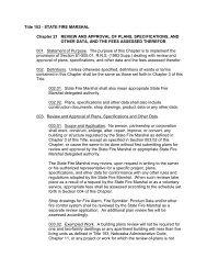 Title 153 - Nebraska State Fire Marshal