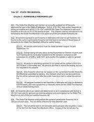 Title 157 - STATE FIRE MARSHAL Chapter 2 - Nebraska State Fire ...