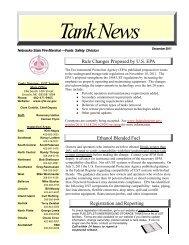 Tank News - Nebraska State Fire Marshal