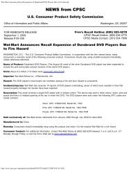 Wal-Mart Announces Recall Expansion of Durabrand DVD Players ...