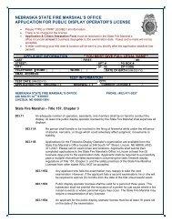 application - Nebraska State Fire Marshal - State of Nebraska