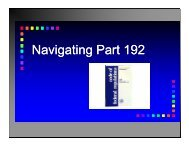 N i ti P t192 Navigating Part 192