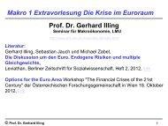 Makro 1 Extra Eurokrise - Seminar für Makroökonomie - LMU