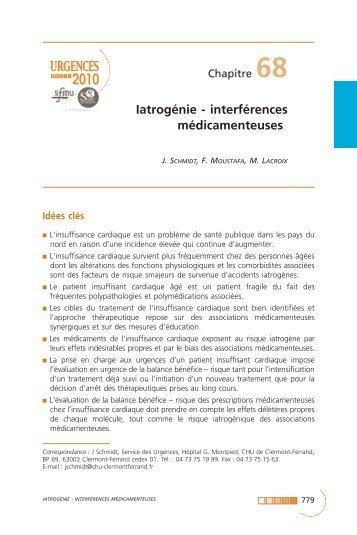 Iatrogénie - interférences médicamenteuses - SFMU