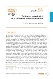 Traitement ambulatoire de la thrombose veineuse profonde - SFMU