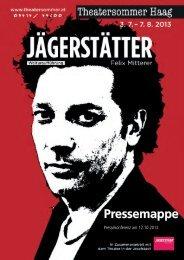 Pressemappe Theatersommer Haag - Land Oberösterreich