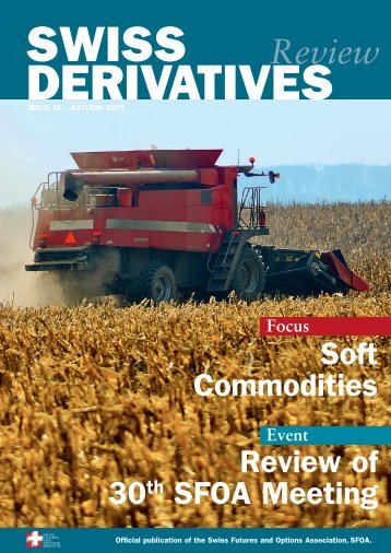 Download PDF, Issue 41 - Swiss Futures and Options Association