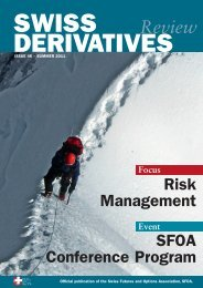 Download PDF, Issue 46 - Swiss Futures and Options Association