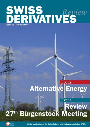 Download PDF, Issue 32 - Swiss Futures and Options Association