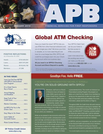 Global aTM Checking - SF Police Credit Union