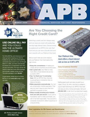 are you Choosing the Right Credit Card? - SF Police Credit Union