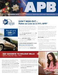 DON'T MISS OUT – Rates as Low as 2.74% APR* - SF Police Credit ...