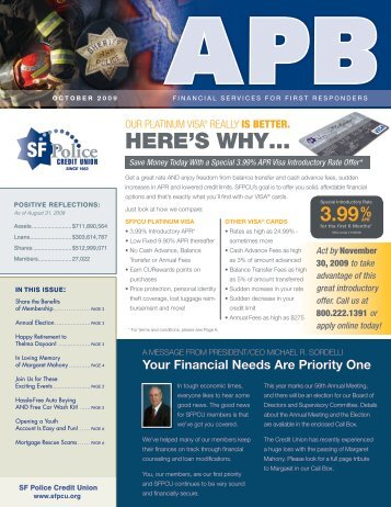 HERE'S WHY … - SF Police Credit Union