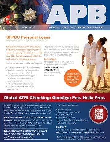 Global ATM Checking: Goodbye Fee. Hello Free. - SF Police Credit ...