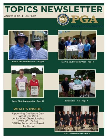 TOPICS NEWSLETTER - South Florida PGA Golf