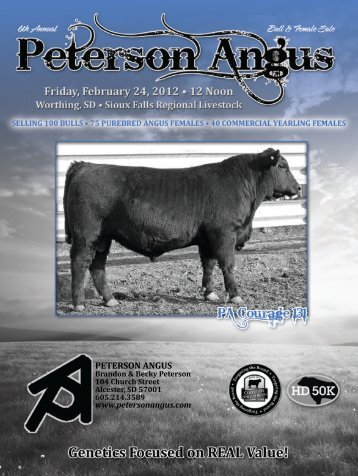 PETERSON ANGUS - Sioux Falls Regional Livestock