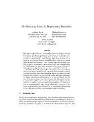On Detecting Errors in Dependency Treebanks - Seminar für ...